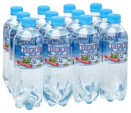 Вода Сенежская кислород природная минеральная питьевая пластик 12*0.5 л
