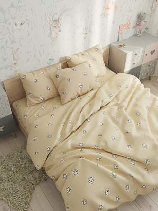 Простынь на резинке Сказка -Котики (компаньон)- натяжная 90х200х26 см 1,5-спальная