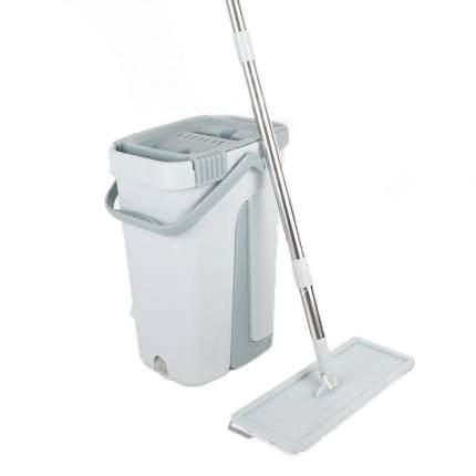 Комплект для уборки полов самоочищающаяся швабра Scratch Cleaning mop серая