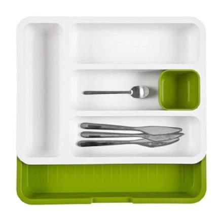 Раздвижной лоток под столовые приборы Expandable cutlery tray зеленый