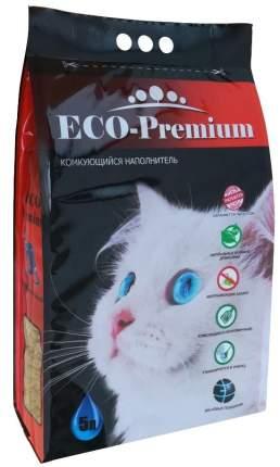 Наполнитель для кошачьего туалета ECO Premium Blue древесный комкующийся, 5л, 1,9кг
