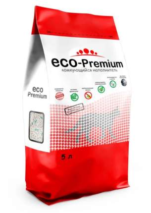 Комкующийся наполнитель ECO-Premium Blue древесный, 1.9 кг, 5 л