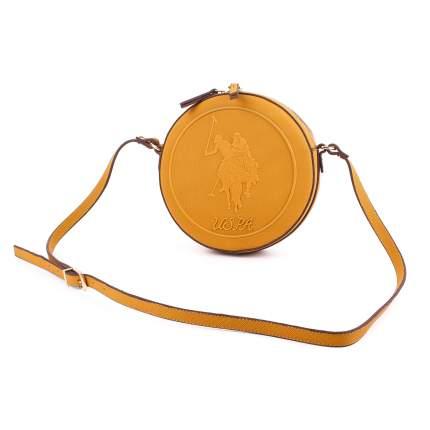 Сумка кросс-боди женская Us Polo Assn. V1077 желтая