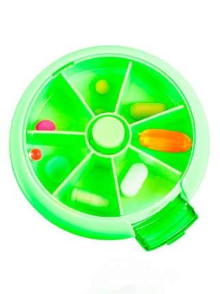 Автоматическая таблетница с 7-ю отделениями зелёный