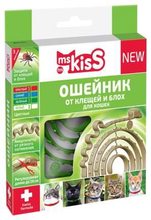 Ошейник для кошек против паразитов Ms. Kiss Mild зеленый, 38 см