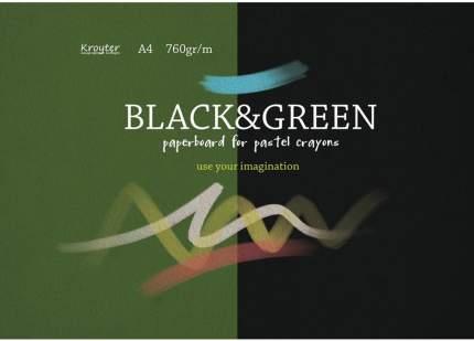 Альбом для рисования пастелью Black&Green А4 10 листов Kroyter 07668/693942