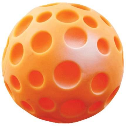 Апорт для собак Зооник Мяч луна малый, оранжевый, 7,5 см