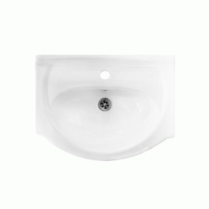 Умывальник мебельный с хромированным обрамлением Sanita Вега , 55 см (S402401)