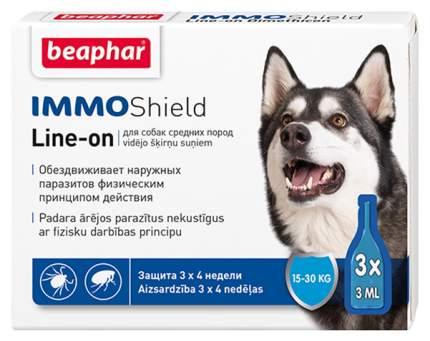 Капли для средних собак против паразитов Beaphar IMMO Shield, 3 пипетки, 3мл