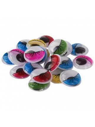 Глазки для творчества самоклеящиеся, с ресницами, 18 мм, 20 ш. цветные Остров сокровищ