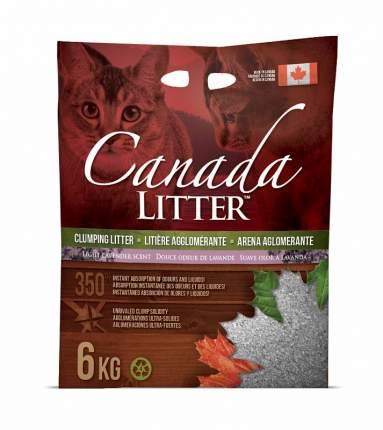 Комкующийся наполнитель для кошек Canada Litter бентонитовый, лаванда, 6 кг, 21 л