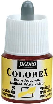 Акварельные чернила PEBEO Colorex , 45 мл, желтый основной, арт. 341-059
