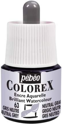 Акварельные чернила PEBEO Colorex , 45 мл, нейтральный серый, арт. 341-063