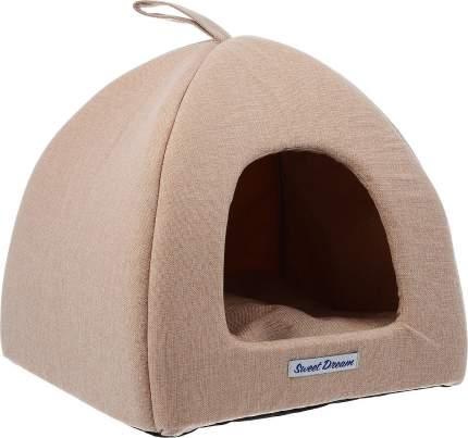 Домик для кошек и собак Бобровый Дворик Сладкий сон №2 светло-бежевый, 42x38x42см