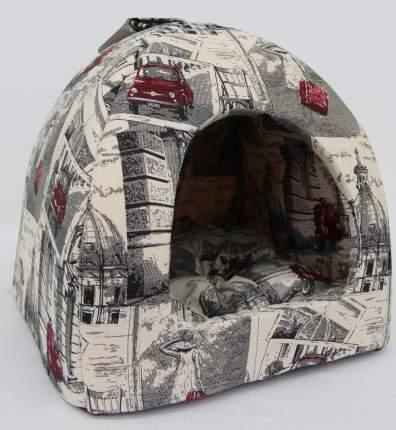 Домик для кошек и собак Бобровый Дворик Город №1, разноцветный, 39x39x35см