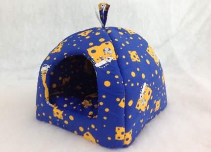 Домик для кошек и собак Бобровый Дворик Кошки №2, синий, 42x38x42см
