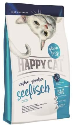 Сухой корм для кошек Happy Cat Sensitive Grainfree, беззерновой, с морской рыбой, 4кг