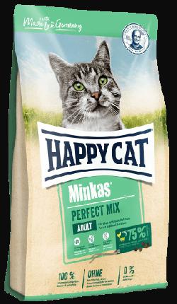 Сухой корм для кошек Happy Cat Minkas Perfect Mix Adult, с птицей, ягненком и рыбой, 0,5кг