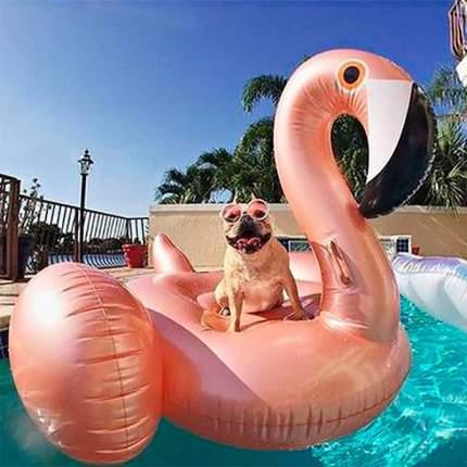 Надувной матрас Baziator Pink Gold Flamingo, 192 см