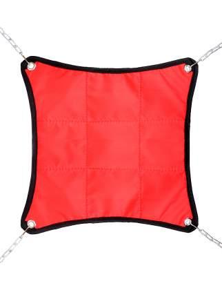 Гамак для хорьков и мелких грызунов Монморанси Шустрик, красный, 30х30 см
