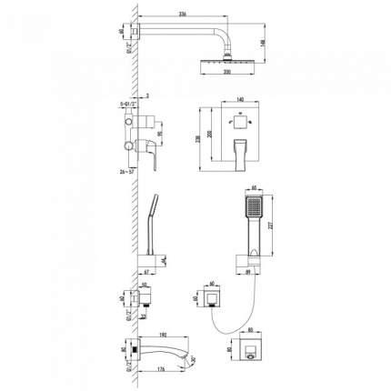 Смеситель для встраиваемой системы LEMARK Unit LM4522C хром