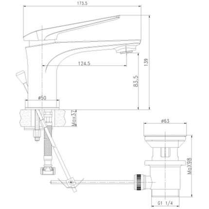 Смеситель для раковины LEMARK ALLEGRO LM5906CW белый/хром