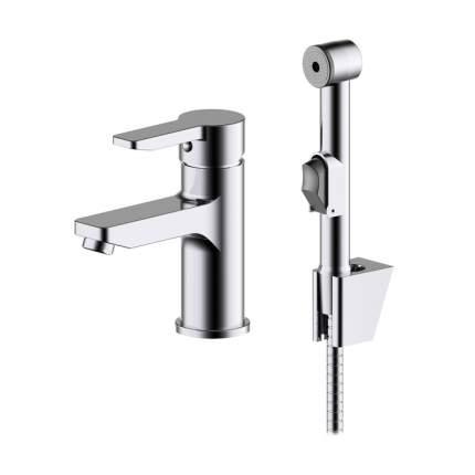 Смеситель для умывальника с гигиеническим душем IDDIS Sena SENSB00i08