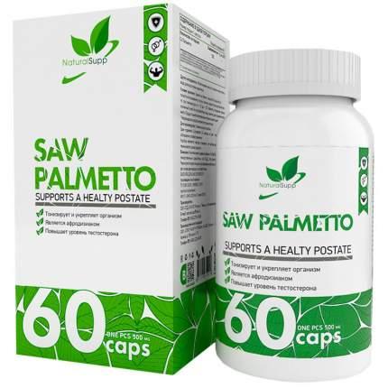 Со Пальметто NaturalSupp Saw Palmetto 500 мг капсулы 60 шт.