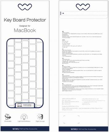Накладка на клавиатуру Wiwu Keyboard Protector USA для MacBook Pro 16 Clear
