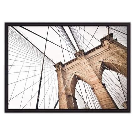 Постер в рамке Бруклинский мост 21х30 см