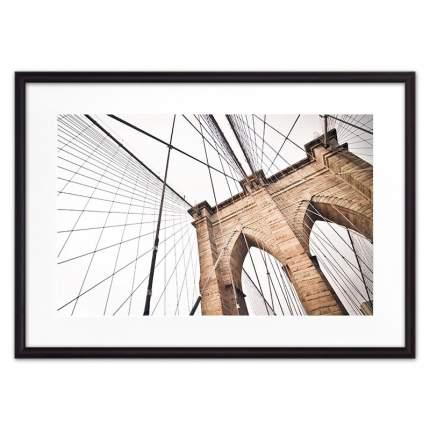 Постер в рамке Бруклинский мост 50х70 см