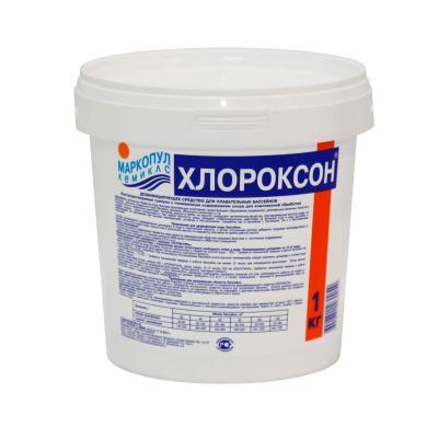 Дезинфицирующее средство для бассейна Маркопул Кемиклс Хлороксон М28 1 кг