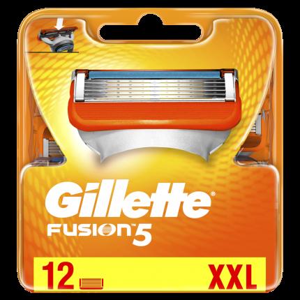 Сменные кассеты Gillette Fusion5 с 5 лезвиями 12 шт