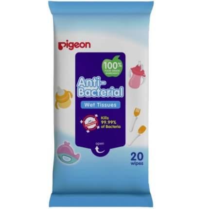 Детские влажные салфетки Pigeon антибактериальные, 20 шт.