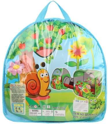 Наша Игрушка Палатка игровая с туннелем Веселая улитка, сумка на молнии