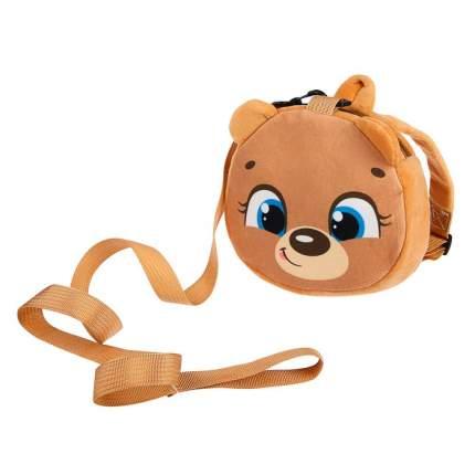Вожжи/рюкзак «Мишка», с поводком, на молнии Крошка Я
