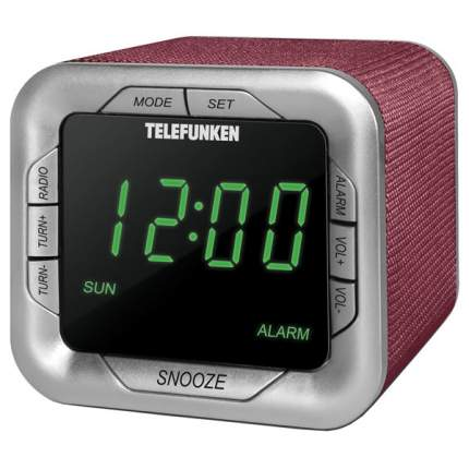Радио-часы Telefunken TF-1505 Burgundy/Green