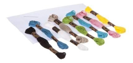 Набор для творчества Bondibon вышивка на хлопковой канве. зайка