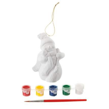 Набор для творчества Bondibon ёлочные украшения снеговик 11см