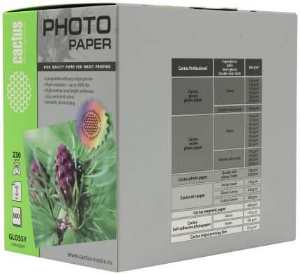 Фотобумага для принтера Cactus CS-GA6230500 A6 230г/кв.м глянцевое покрытие 500л