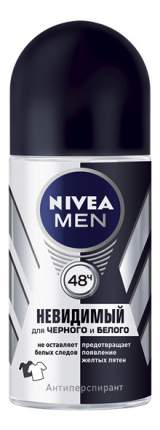 Антиперспирант Nivea Ролик мужской Невидимая защита для черного и белого 50мл