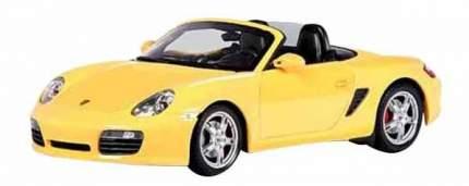 Автомобиль Welly Porsche Boxster S, convertible 1:24 желтый 22479W