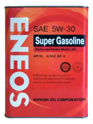 Моторное масло Eneos Super Gasoline Semi-Synthetic SAE 5W-30 4л