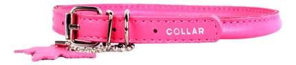 Ошейник COLLAR GLAMOUR круглый для длинношерстных собак, 8мм, 33-41см, розовый