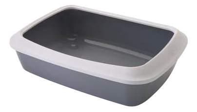 Туалет для кошек SAVICS0263 с насадкой ISIS серый 42х31х12.5см