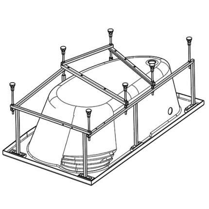 Комплект монтажный Santek для ванны Эдера 170х110см белый (WH112426)