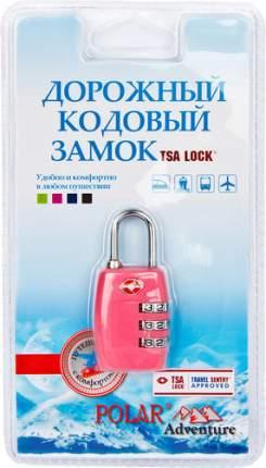 Замок для багажа кодовый Polar розовый 800717