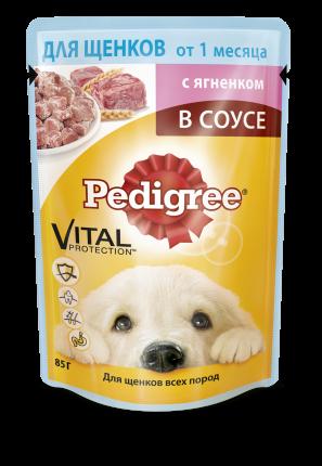 Влажный корм для щенков Pedigree Vital, ягненок, 85г