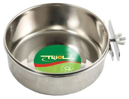 Одинарная миска для кошек и собак Triol, сталь, серебристый, 0.28 л
