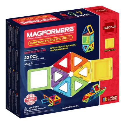 Конструктор магнитный Magformers Window Plus Set 20 set